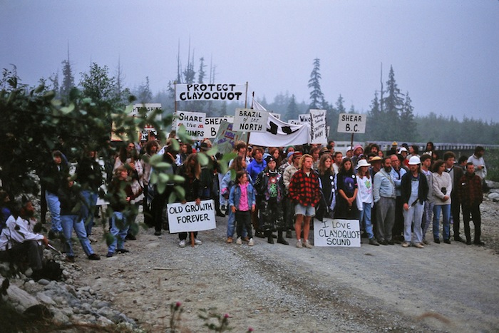 Clayoquot Summer 1993 mass protest. Mark Hobson photo.
