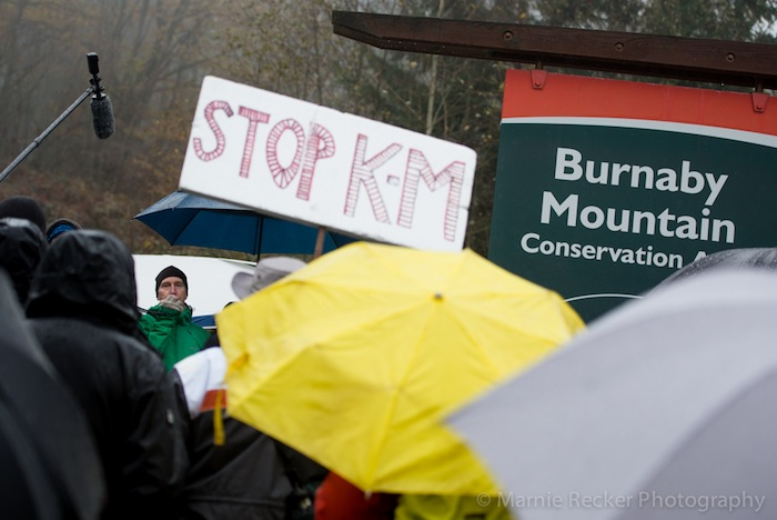 Clayoquot Action's Dan Lewis, protest against Kinder Morgan, Burnaby Mountain, BC. Marnie Recker Photography